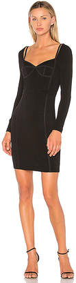 Alexander Wang Sweetheart Long Sleeve Fitted Dress