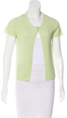 Chanel Cashmere Short Sleeve Cardigan