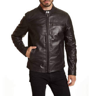 Moto Excelled Leather Excelled Contemporary Banded Collar Jacket