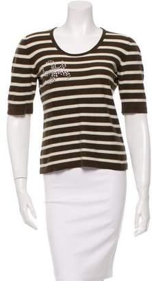 Sonia Rykiel Embellished Short Sleeve Top