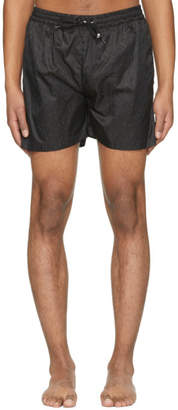 MSGM Black Logo Shorts