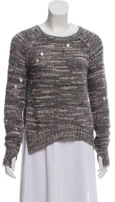 Pam & Gela Bateau Neck Cable Knit Sweater