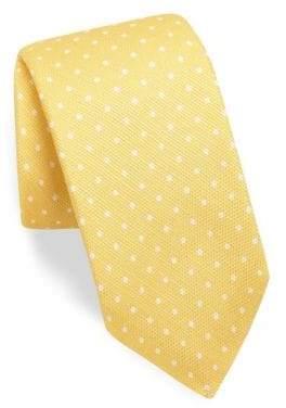 Kiton Polka-Dot Silk Tie