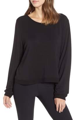 Good American Plunge Back Sweatshirt