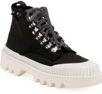 Proenza Schouler Nylon High-Top Platform Sneakers