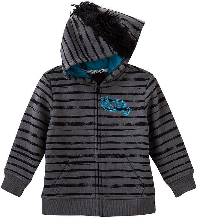 Fleece Baby Tony hawk fleece mohawk hoodie - toddler