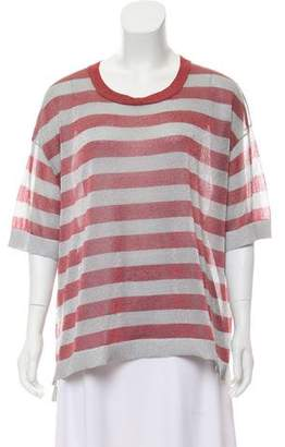 Dries Van Noten Striped Short Sleeve Top