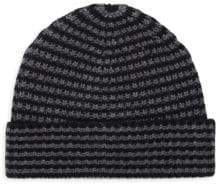 Saks Fifth Avenue Two-Tone Knit Beanie
