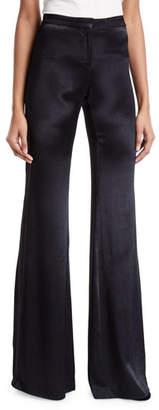 Alexis Orsola Satin Flare-Leg Pants