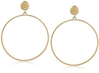 Canvas Womens Large Tone Post Hoop Earrings