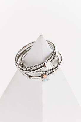 Urban Outfitters Opal Moon Ring Set
