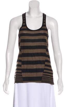 Torn By Ronny Kobo Striped Racerback Top