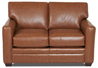 Wayfair Custom Upholstery Carleton Leather Loveseat