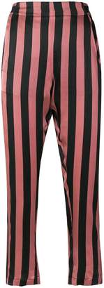 Ann Demeulemeester cropped striped trousers