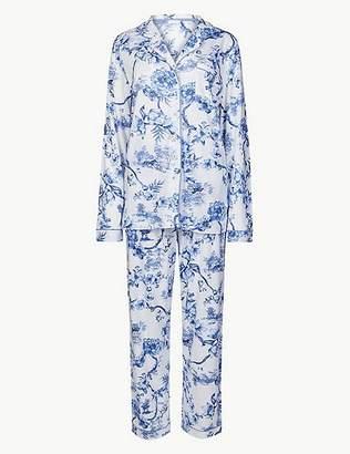 "Marks and Spencer Cotton Blend Pyjama Set with Cool Comfortâ""¢ Technology"