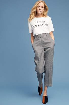 Selected Houndstooth-Checked Trousers