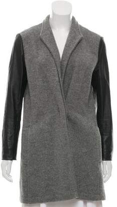 Scoop Wool Leather-Accented Jacket