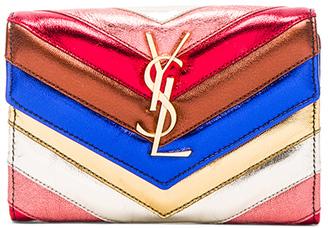 Saint Laurent College Envelope Wallet $525 thestylecure.com