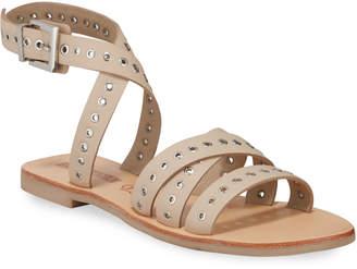 Sol Sana Clash Grommet Leather Strap Sandals