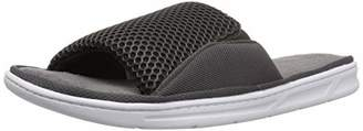 Dearfoams Men's Mixed Mesh Slide Gore Slipper