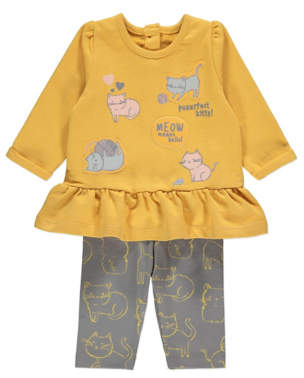 CAT George Mustard Top and Leggings Outfit