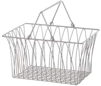 Mainstays Large Steel Wire Basket with Handles - Satin Nickel