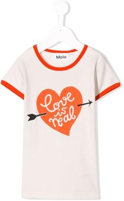 Molo Kids Love Is Real print T-shirt