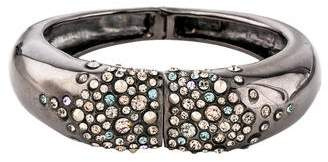 Alexis Bittar Crystal Gunmetal Bracelet