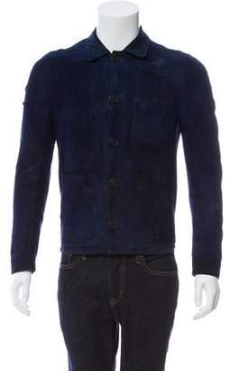 Burberry Three-Pocket Suede Jacket