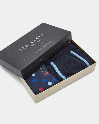 Ted Baker SURFER Boxer and sock gift set