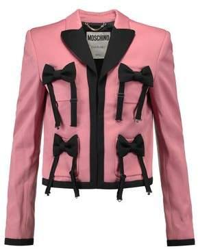 Moschino Bow-Embellished Satin-Crepe Jacket