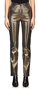 Fiorucci Women's Yves Metallic Cigarette Straight Jeans
