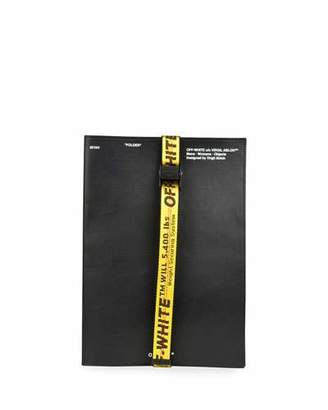 Off-White Men's Leather Industrial-Strap Document Holder