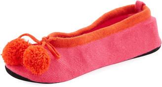 Neiman Marcus Cashmere Slippers w/Pompom