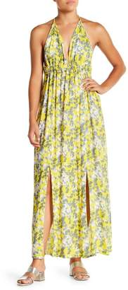 Tiare Hawaii Tai Tassel Halter Maxi Dress