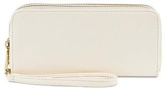 Merona Women's Double Zipper Faux Leather Wallet - Merona $16.99 thestylecure.com