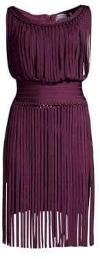 Herve Leger Fringe Popover Dress