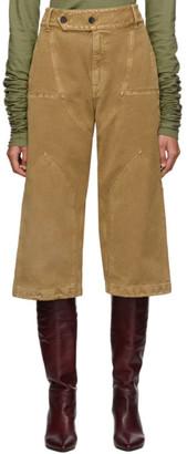 Lanvin Tan Panelled Jeans
