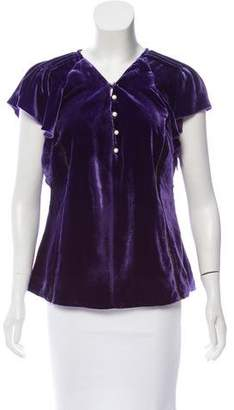 Altuzarra Ruffled Velvet Top