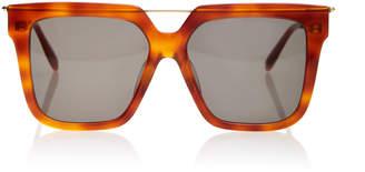 Alexander McQueen Sunglasses Oversized Tortoiseshell Sunglasses