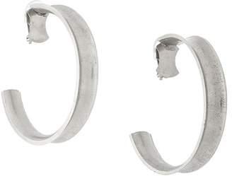 Krizia Pre-Owned Large Loop clip-on earrings