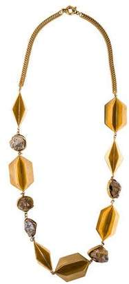 Etro Rutilated Quartz Station Necklace