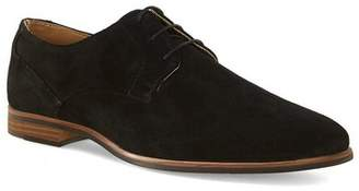 Topman Mens Black Suede Derby Shoes
