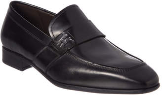 Salvatore Ferragamo Gancini-Embossed Leather Loafer