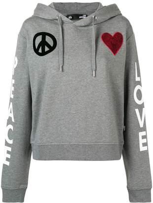 Love Moschino Peace and Love hoodie