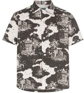 Vyner Articles tropical print short sleeve shirt