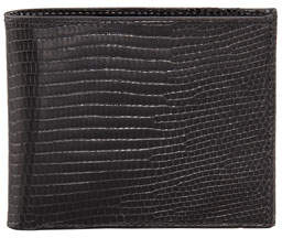 Neiman Marcus Lizard Slim Wallet, Black