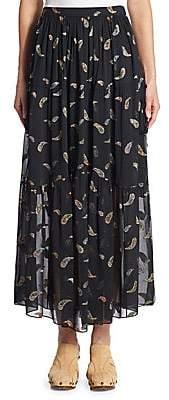 Chloé Women's Paisley Lurex Jacquard Skirt