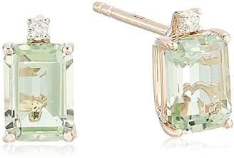 Effy Women's 14K Rose Gold Amethyst/Diamond Stud Earrings