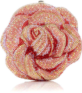 Judith Leiber Couture Crystal-Embellished Rose Clutch